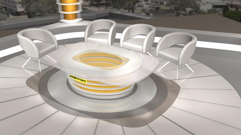 BBC-FIFA World Cup Studio in Cape Town 3d visualization