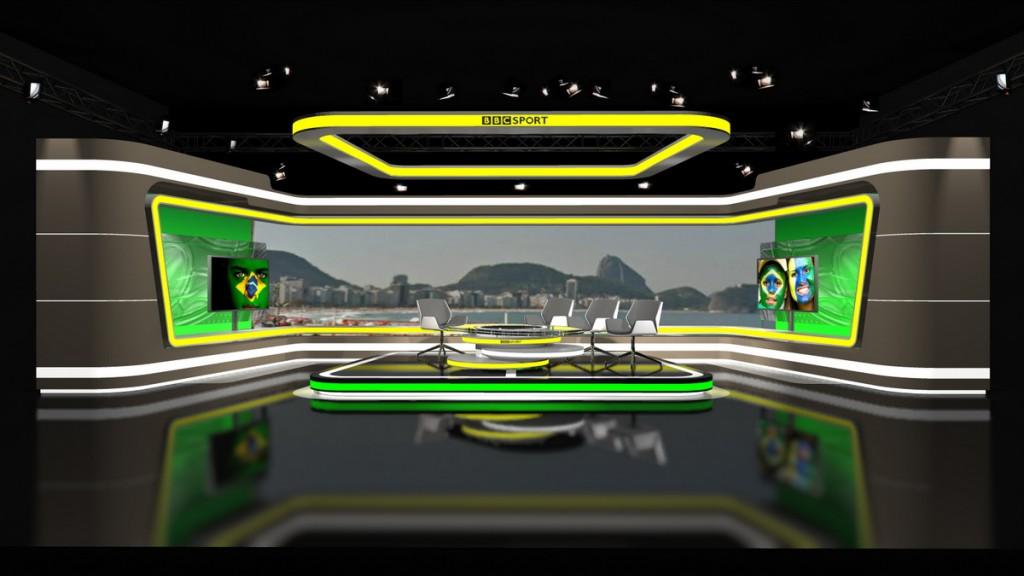 BBC-World Cup Studio in Rio de Janeiro 3D visualisation