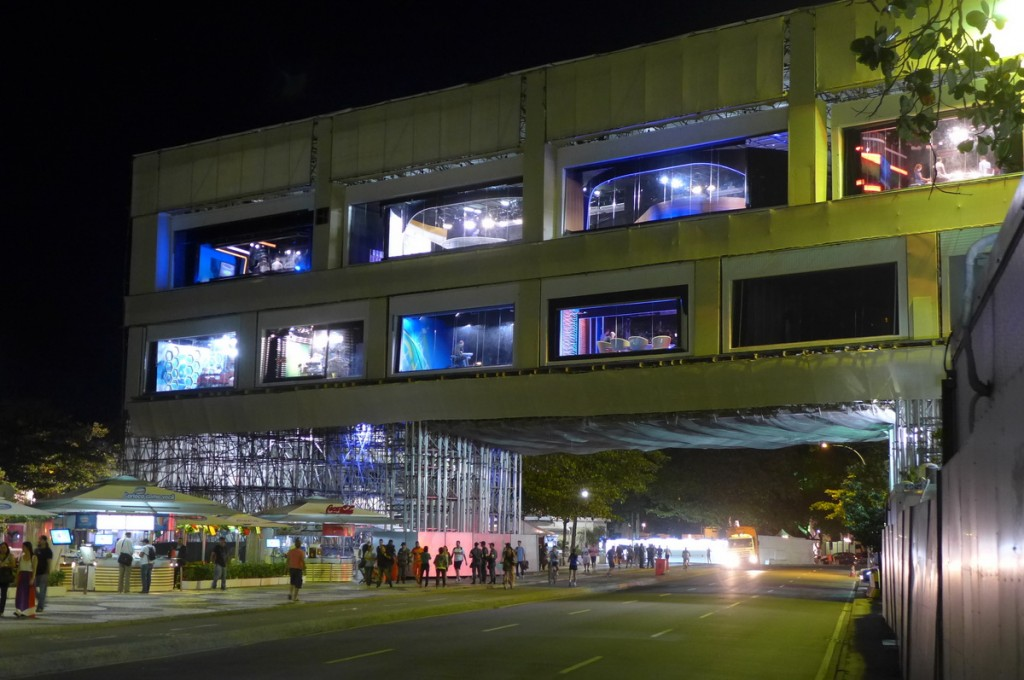 BBC-World Cup Studio Rio de Janeiro studio-complex at the Copacabana