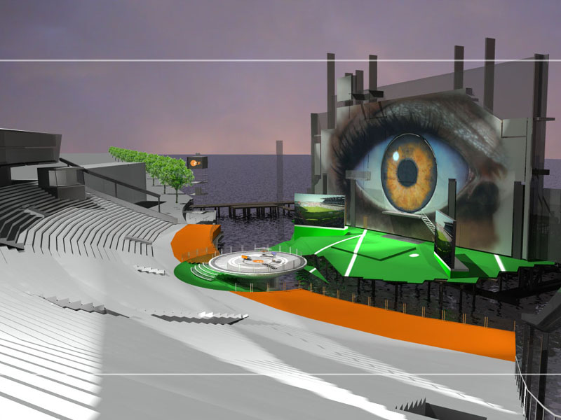 ZDF Arena at Seebühne Bregenz 3d visualization