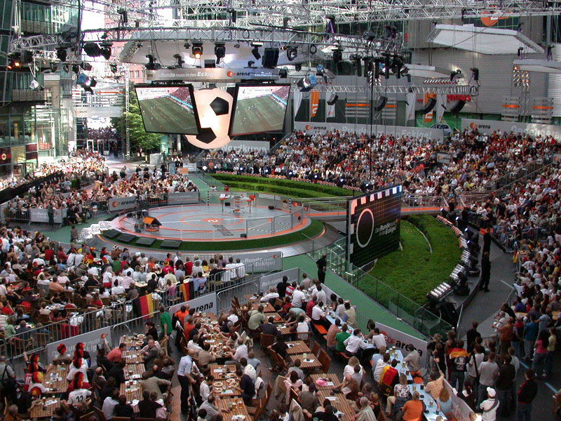 ZDF Arena - view from Lindenbräu`s balcony
