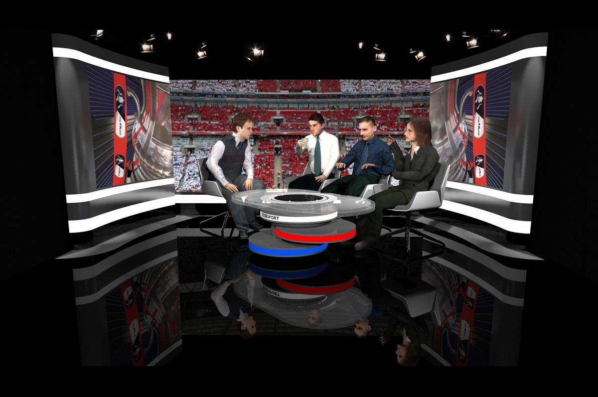BBC Sport Travel Set - 3d visualization