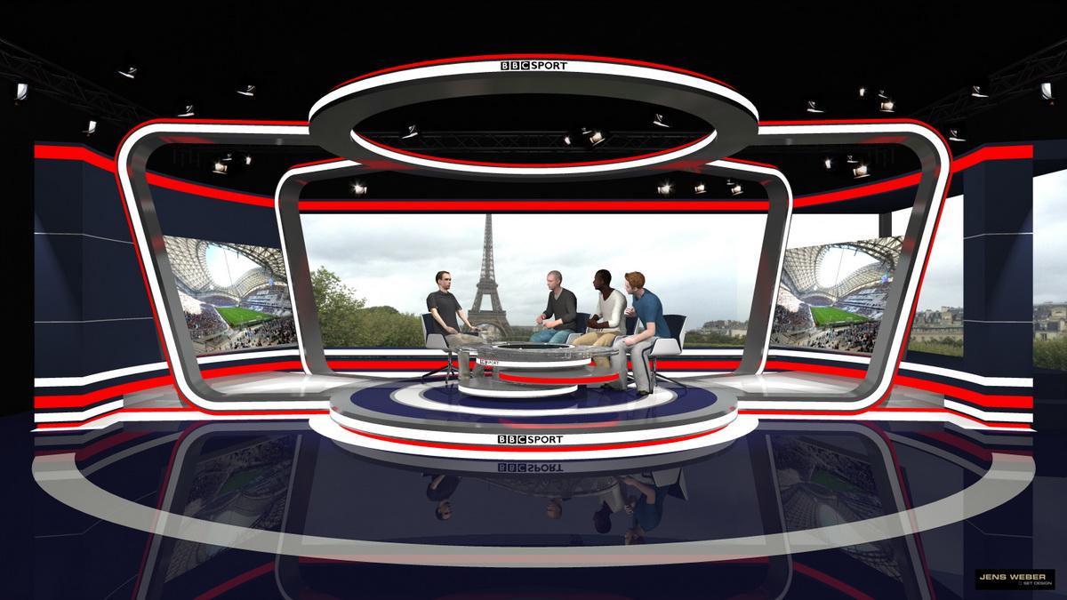 bbc uefa euro 2016 france paris jens weber set design. Black Bedroom Furniture Sets. Home Design Ideas