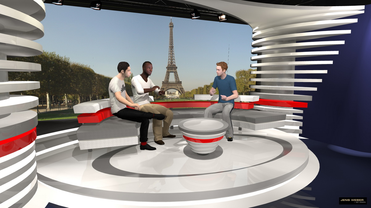 Globo Sport – EURO Studio Paris – 3D visualisation