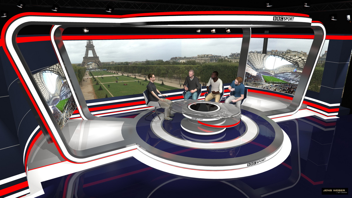 BBC – EURO Studio Paris  – 3D visualisation