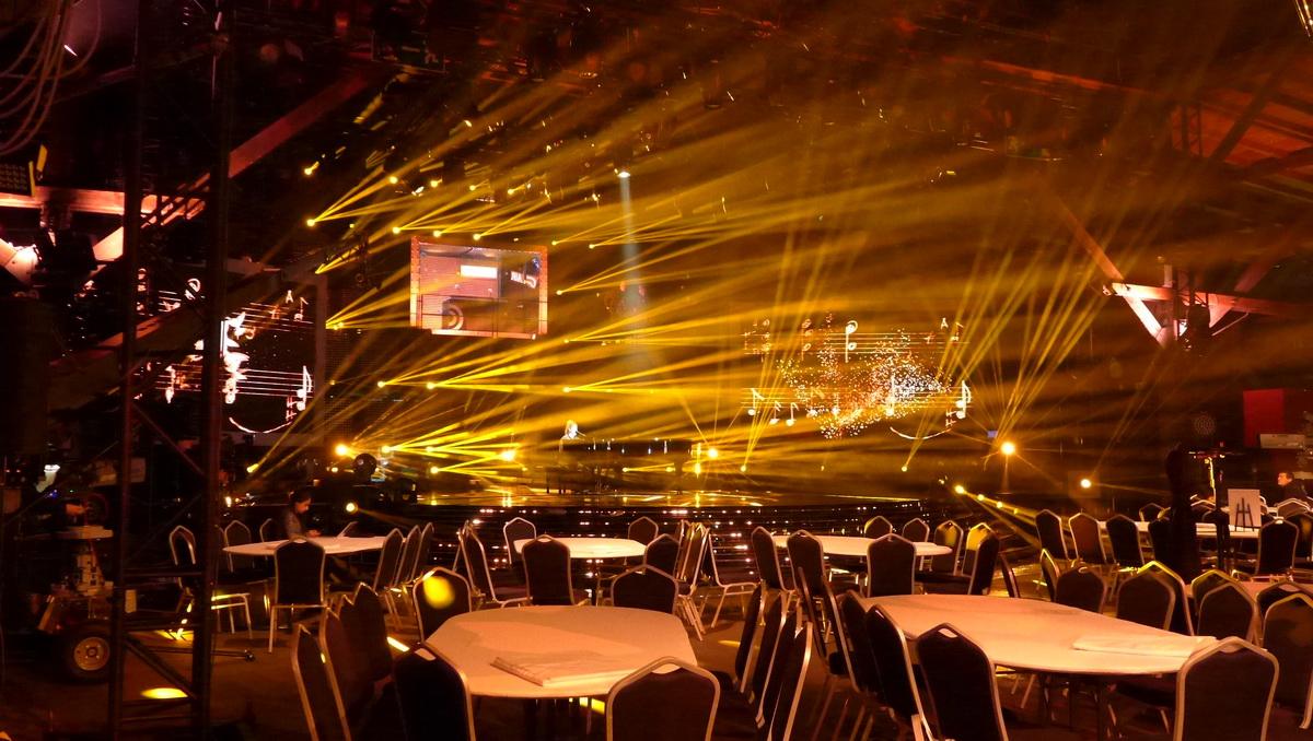 """Bühnenbild für den siebten """"Deutschen Radiopreis"""", Lichtshow"""