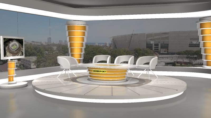 BBC-WM Studio in Kapstadt 3D Visualisierung