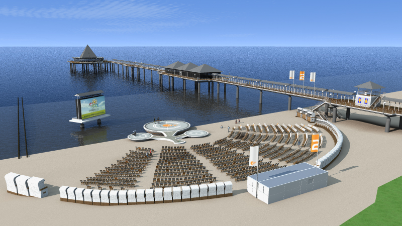 ZDF Football-Beach - Heringsdorf 3d visualization - TV area