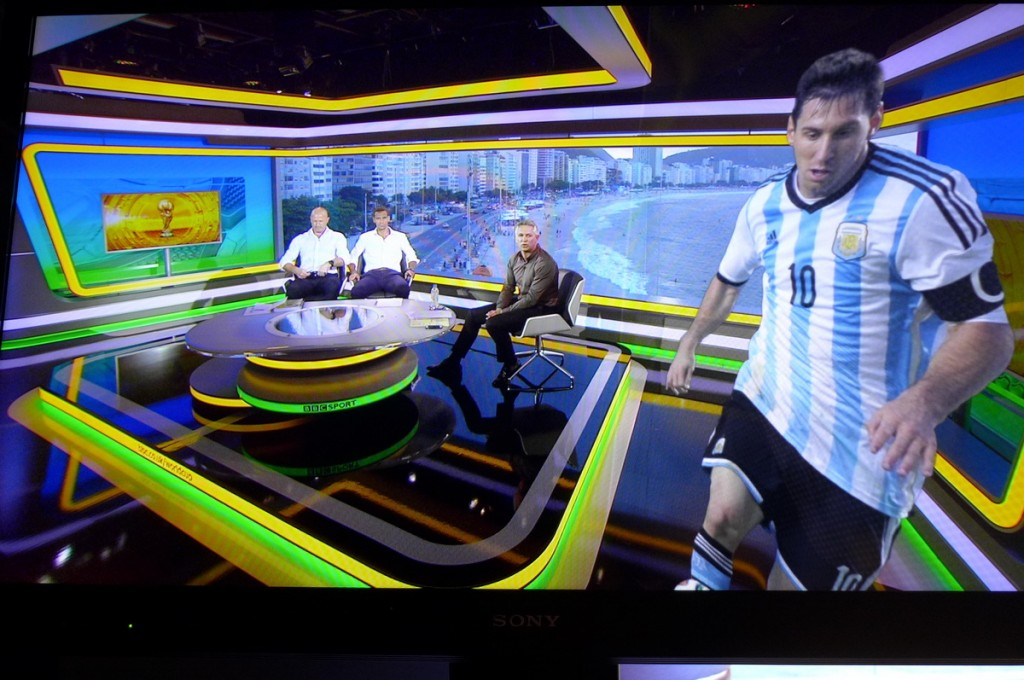 BBC-World Cup Studio Rio de Janeiro with augmented reality graphics