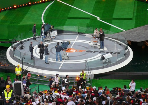 ZDF German Television - UEFA Football Euro 2008 - Seebühne Bregenz