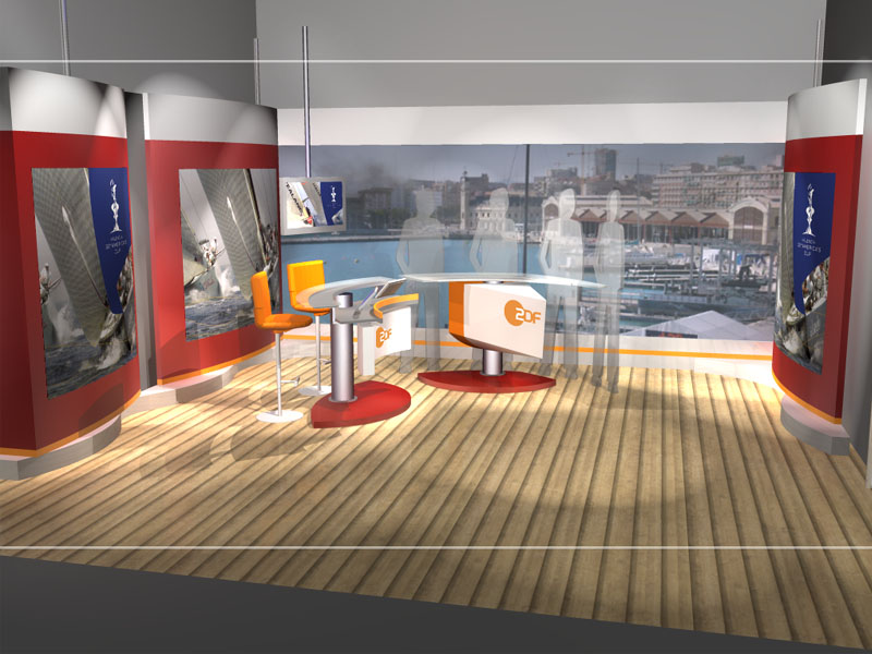 ARD / ZDF Studio 3d visualization