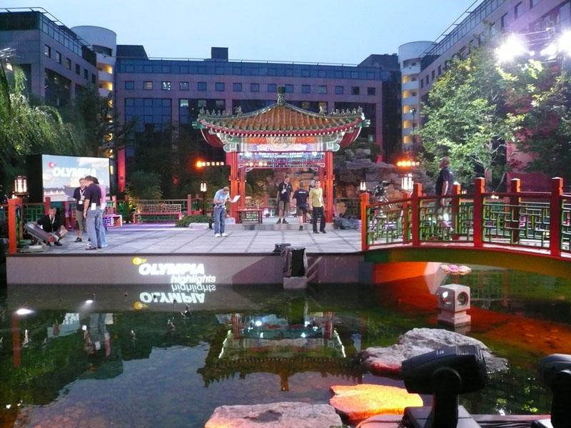 ZDF Garden - Olympia Highlights at the German House East garden - Hotel Kempinski Beijing