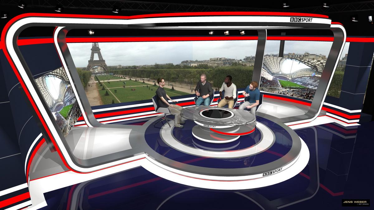 BBC – EURO Studio Paris  – 3D visualisation